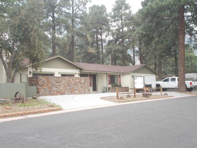 Flagstaff, Bellemont, Munds Park, Parks, Williams Single Family Home For Sale: 3106 E Manor Road