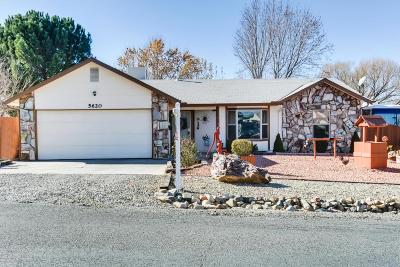 Prescott Single Family Home For Sale: 5620 N Cattlemen Drive