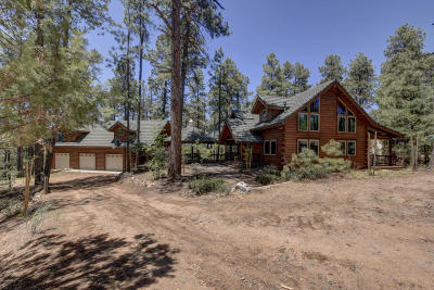 Groom Creek, Prescott, Walker Single Family Home For Sale: 3190 W Tree Tops 4.74 Acres (A, D) Trail