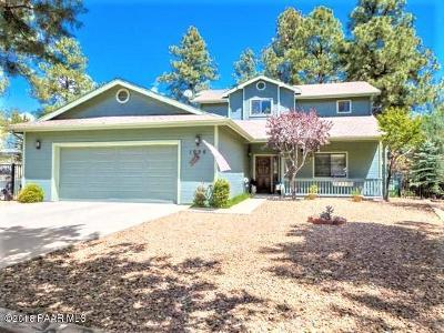 Prescott Single Family Home For Sale: 1996 Black Hawk Circle