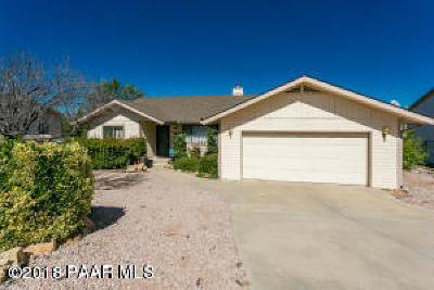 Prescott Single Family Home For Sale: 3221 Montana Drive
