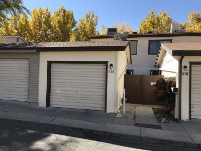 Prescott Condo/Townhouse For Sale: 318 Rim Rock Circle