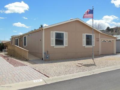 Prescott, Prescott Valley Mobile/Manufactured For Sale: 12095 E Pepper Tree Way