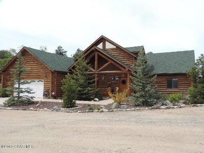 Groom Creek, Prescott, Walker Single Family Home For Sale: 1070 Quiet Pines Lane