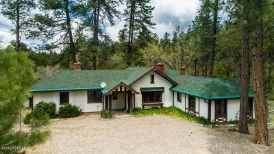 Groom Creek, Prescott, Walker Single Family Home For Sale: 1500 E Friendly Pines Road