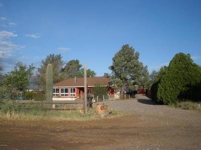 Yavapai County Single Family Home For Sale: 1512 N Montezuma Heights Rd
