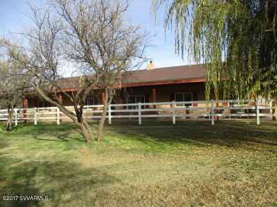 Camp Verde Single Family Home For Sale: 310 W Shill Rd