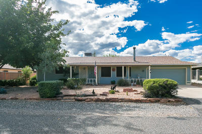 Cottonwood Single Family Home For Sale: 2380 Rio Verde Drive