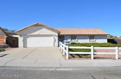 Sedona, Camp Verde, Cornville, Cottonwood, Lake Montezuma, Prescott, Prescott Valley, Rimrock Single Family Home For Sale: 606 S Highline Lane