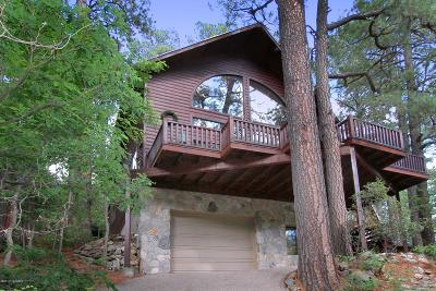 Mt. Lemmon Single Family Home For Sale: 12648 N Sabino Canyon