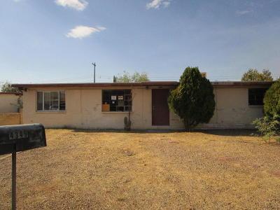 Tucson AZ Single Family Home For Sale: $94,900