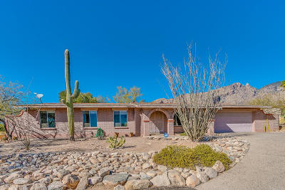 Tucson Single Family Home Active Contingent: 3863 E Lizard Rock
