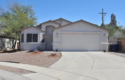Pima County Single Family Home Active Contingent: 6002 N Applesauce Court