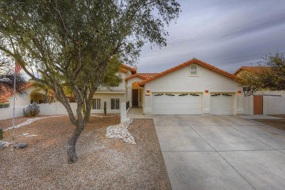 Tucson Single Family Home Active Contingent: 3635 N Sabino Creek Place