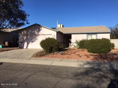 Pima County Single Family Home Active Contingent: 2700 W Sunset Road