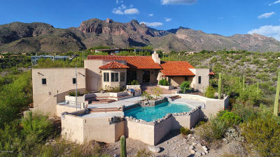 Tucson Single Family Home For Sale: 7160 N Sunset Canyon Drive