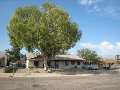 Tucson AZ Single Family Home For Sale: $155,000