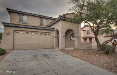 Pima County Single Family Home Active Contingent: 5254 E Agave Vista Drive
