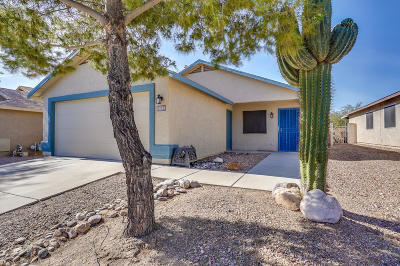 Single Family Home Active Contingent: 8818 S Desert Rainbow Drive