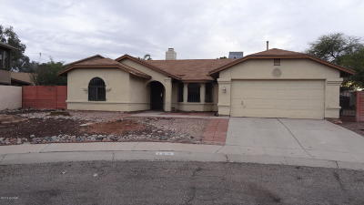 Tucson AZ Single Family Home Active Contingent: $127,500