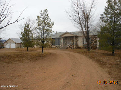 Cochise County Single Family Home For Sale: 7080 S Quick Silver Road