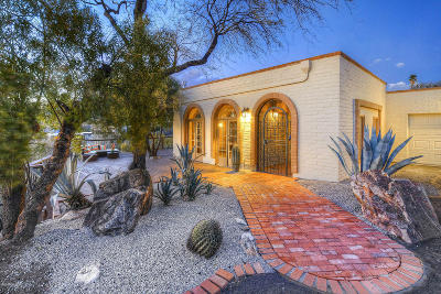 Tucson Single Family Home Active Contingent: 4569 N Paseo Bocoancos