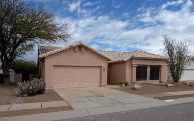 Tucson Single Family Home Active Contingent: 10061 E Paseo De La Masada