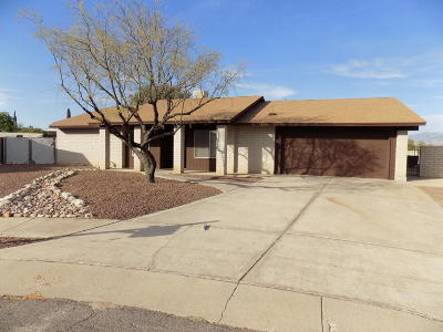 Tucson Single Family Home Active Contingent: 7820 N Nicole Place