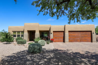 Tucson Single Family Home Active Contingent: 2555 N Tanque Verde Village Place