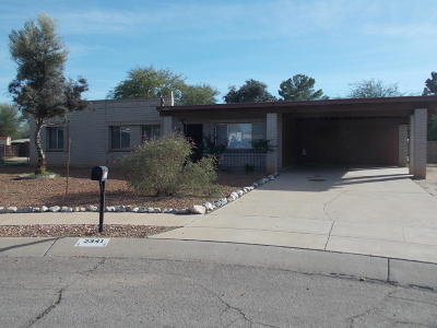 Pima County Single Family Home Active Contingent: 2341 W Placita Algodon