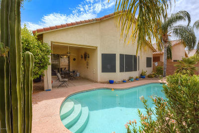 Tucson Single Family Home Active Contingent: 8863 N Treasure Mountain Drive