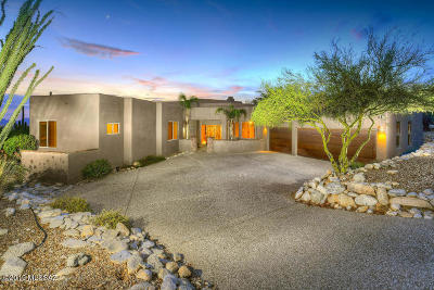 Tucson Single Family Home Active Contingent: 6966 E Wild Canyon Place