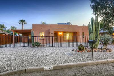 Tucson Single Family Home For Sale: 2633 E Croyden Street