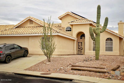 Tucson Single Family Home For Sale: 1631 W Sunridge Drive