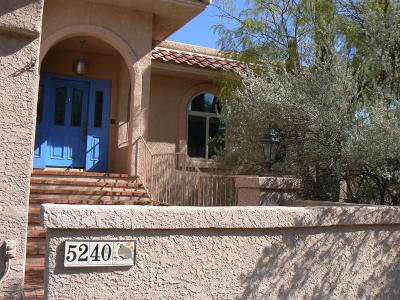 Tucson Single Family Home Active Contingent: 5240 N Apache Hills Trail