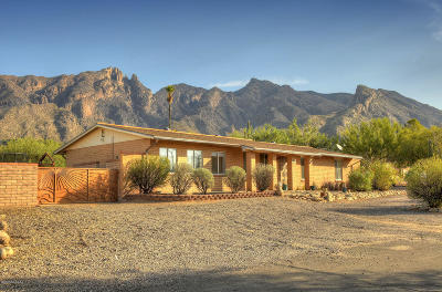 Tucson Single Family Home For Sale: 3731 E Lizard Rock Place