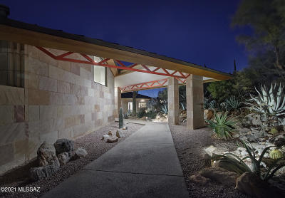 Tucson Single Family Home Active Contingent: 5295 E Mission Hill Drive