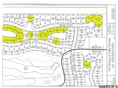 Lake Havasu City Residential Lots & Land For Sale: Various The Refuge 20 Lots Bulk Sale