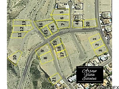 Bullhead City Residential Lots & Land For Sale: 21 Bulk Lots Arroyo Vista Estates