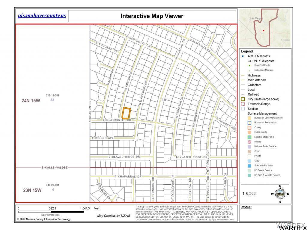 Map Of Arizona Kingman.Lot In Kingman For 7 500