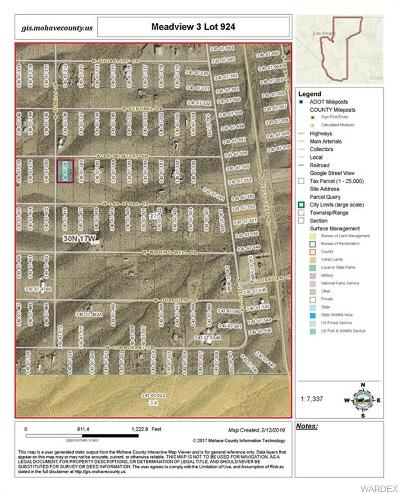 Mohave County Residential Lots & Land For Sale: 1860 W Promontory Drive