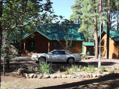 Pinetop Single Family Home For Sale: 232 W Whispering Pines