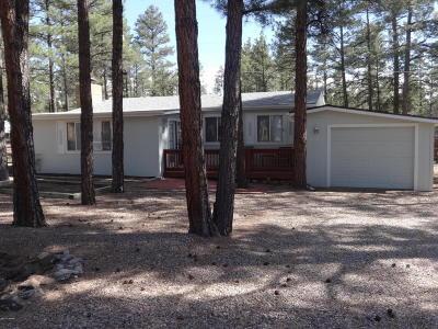 Show Low Single Family Home For Sale: 4561 W Mogollon Drive
