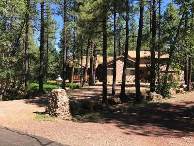 Pinetop Single Family Home For Sale: 2800 Fern Drive