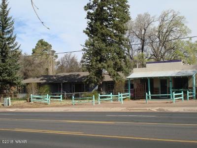 Pinetop Single Family Home For Sale: 2086 E White Mountain Boulevard