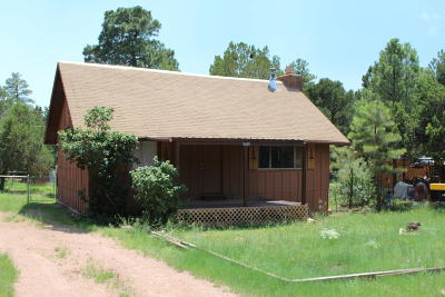 Overgaard AZ Single Family Home For Sale: $69,000