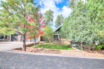 Lakeside Single Family Home For Sale: 5080 Mogollon Rim Drive