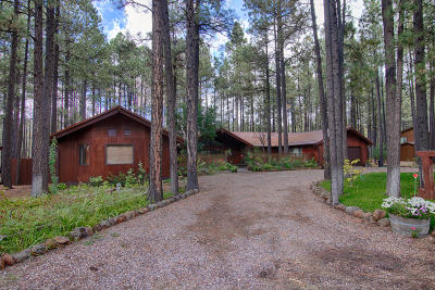 Pinetop Single Family Home For Sale: 7414 Geronimo Road