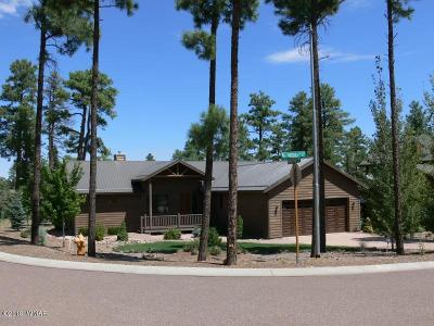 Show Low Single Family Home For Sale: 3000 Billy Mayfair Loop