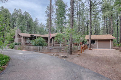 Pinetop Single Family Home For Sale: 8384 Country Club Drive